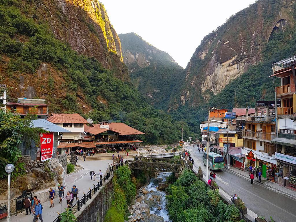 Aguas Calientes près du Machu Picchu au Pérou