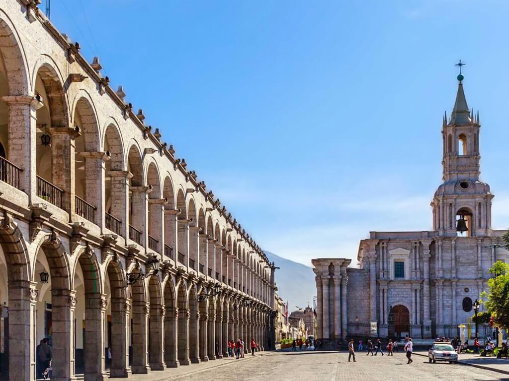 Place d'Armes, centre historique d'Arequipa, Pérou