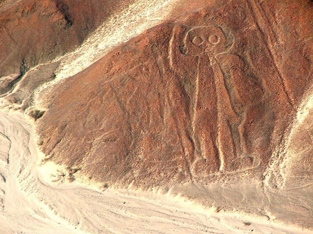 Un astronaute représenté par les lignes de Nazca