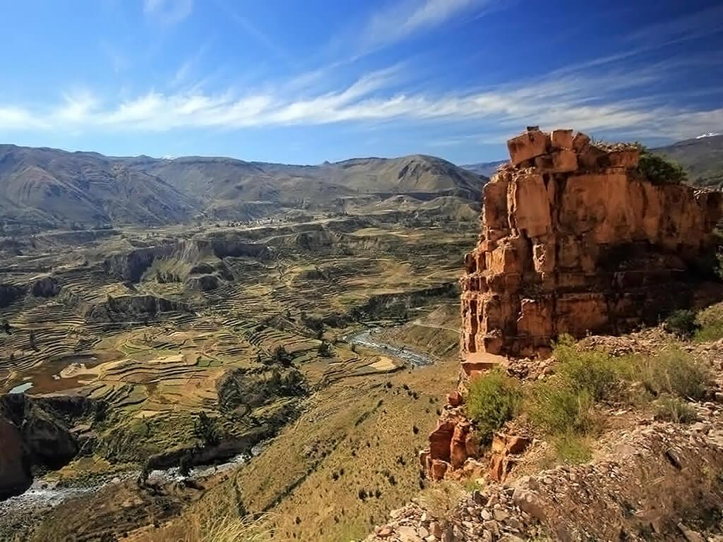 Vue sur le canyon de Colca au Pérou
