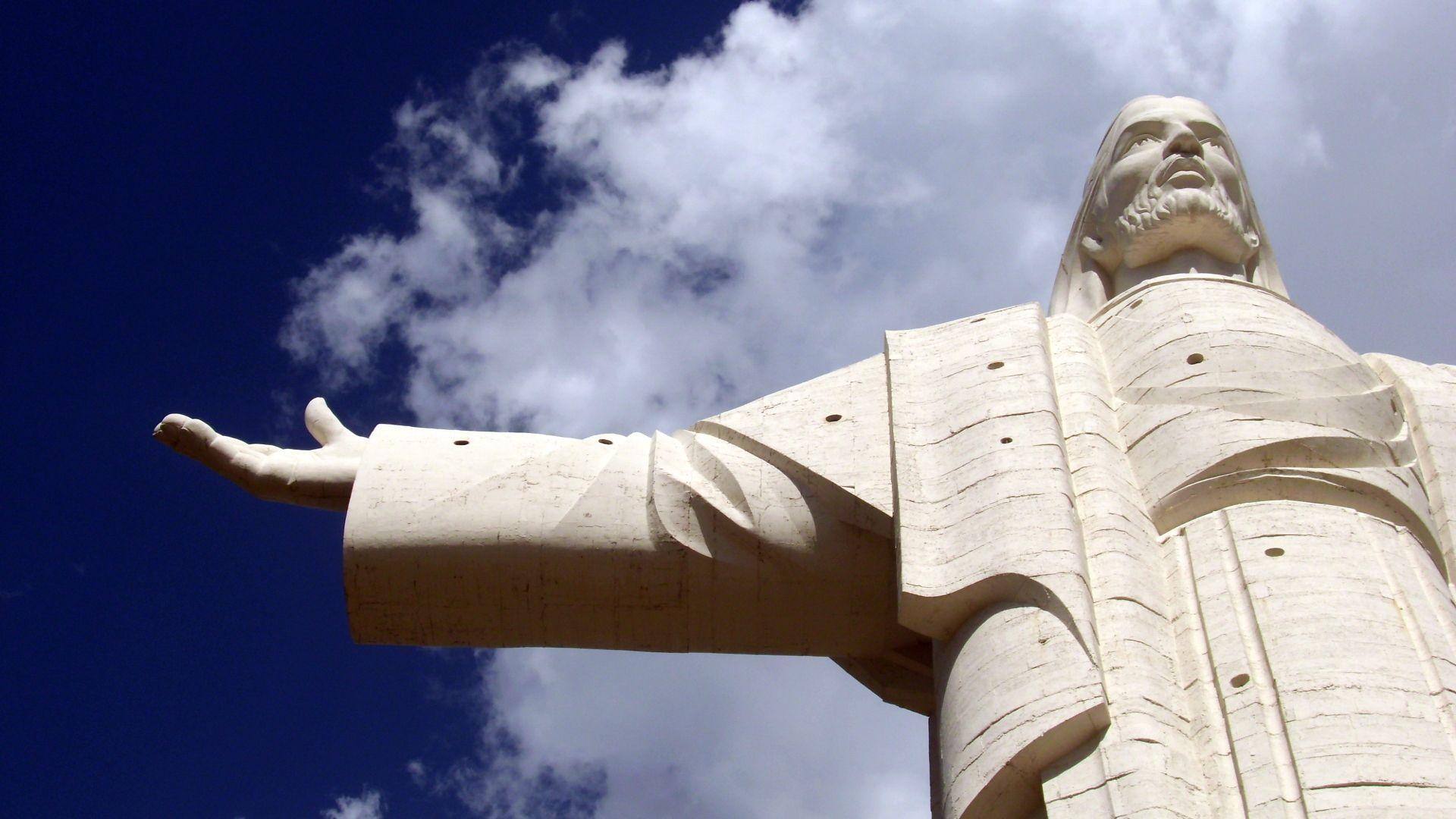 Le Christ de Cochabamba dans les vallées centrales en Bolivie