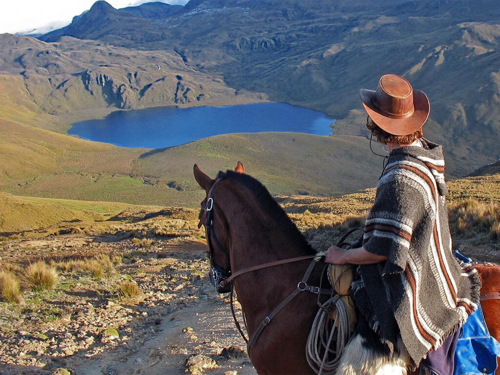 Les volcans équatoriens à cheval
