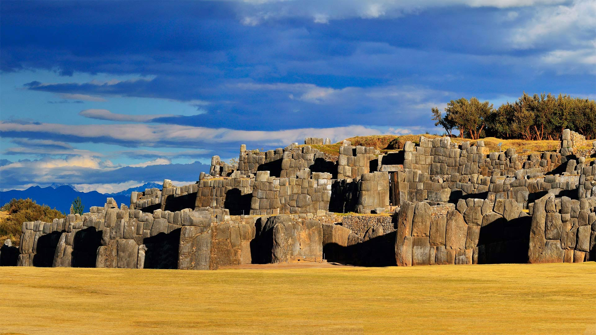 Vestiges de l'empire des Incas près de Cuzco au Pérou
