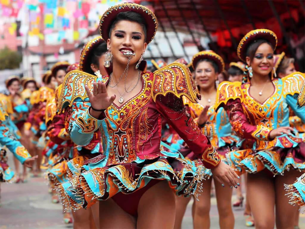 Défilé du carnaval d'Oruro en Bolivie