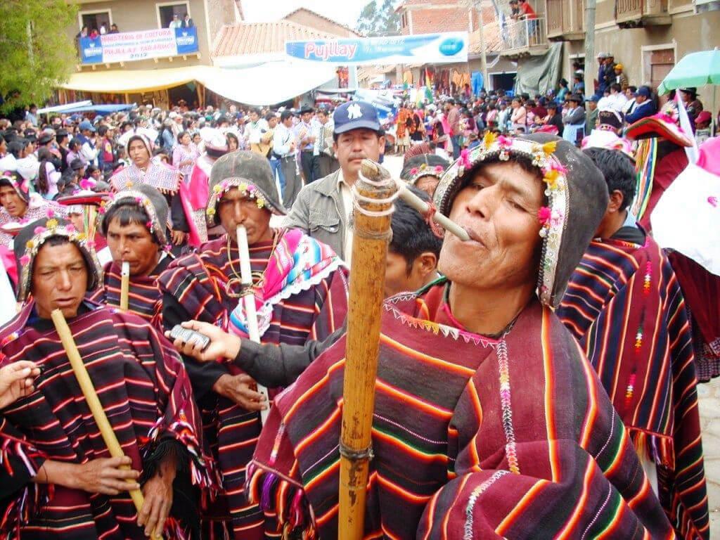 Festival Pujllay à Tarabuco en Bolivie