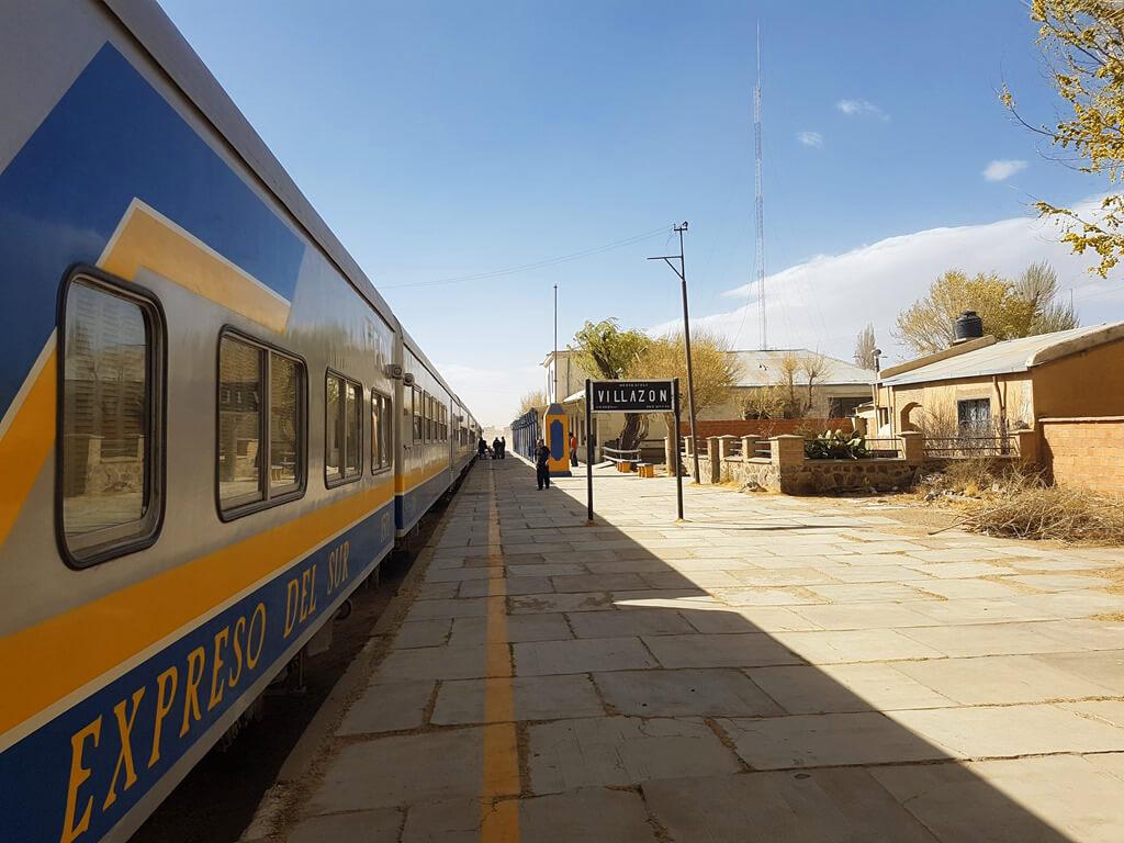 Gare de Villazón en Bolivie