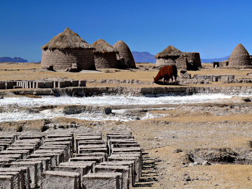 Habitations Uru-Chipaya en Bolivie