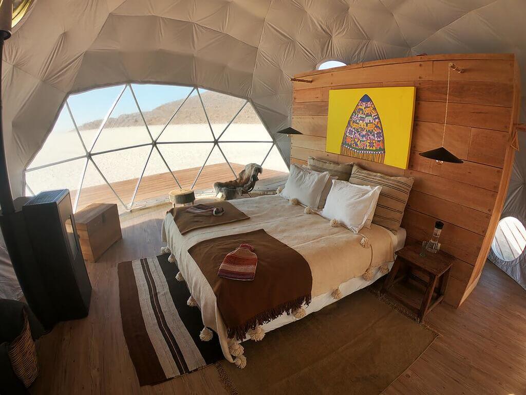 Hôtel dôme sur le Salar d'Uyuni, Bolivie
