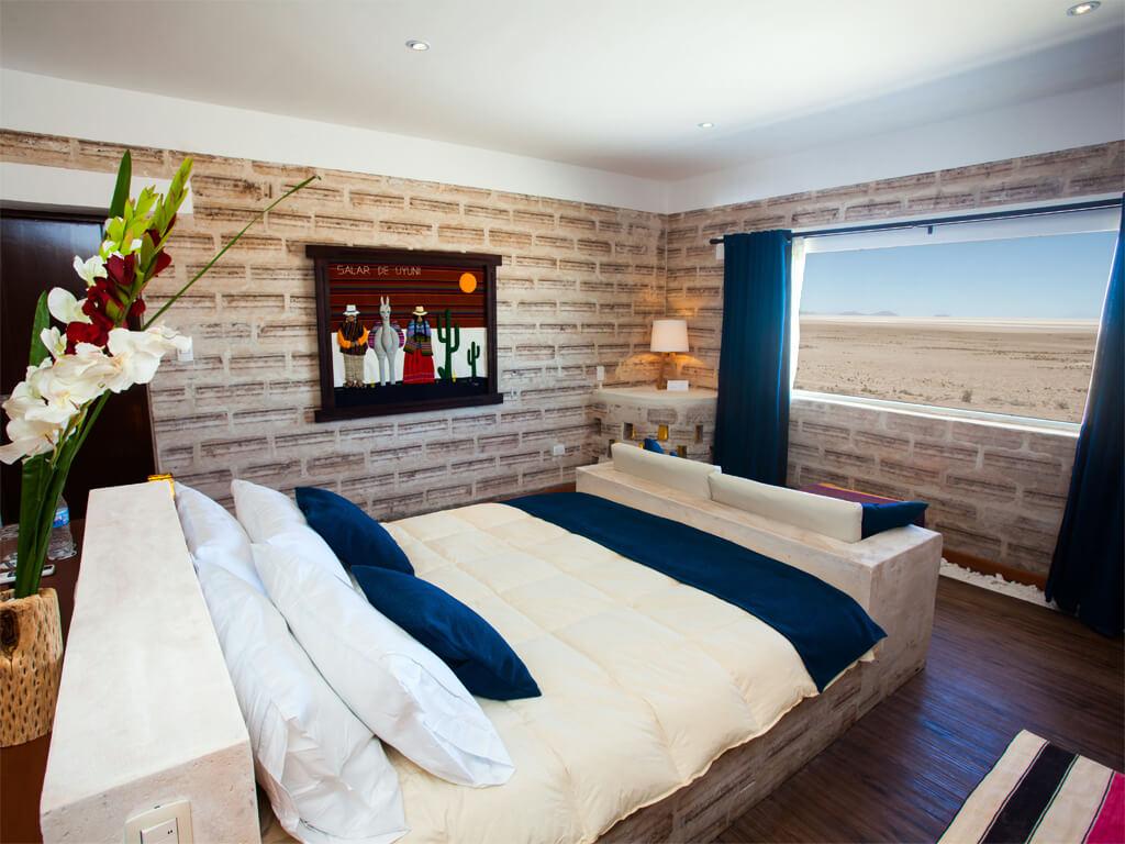 Hôtel en sel sur le Salar d'Uyuni