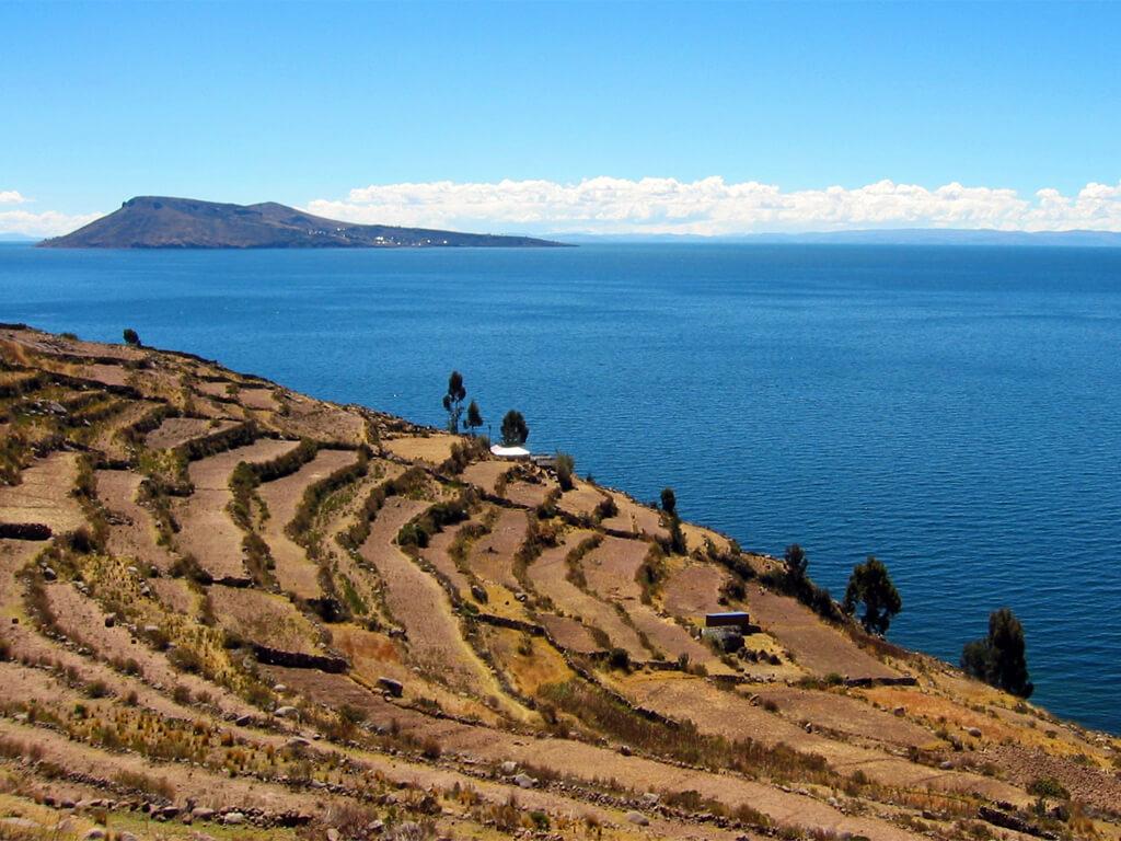 Île Amantani sur le lac Titicaca au Pérou