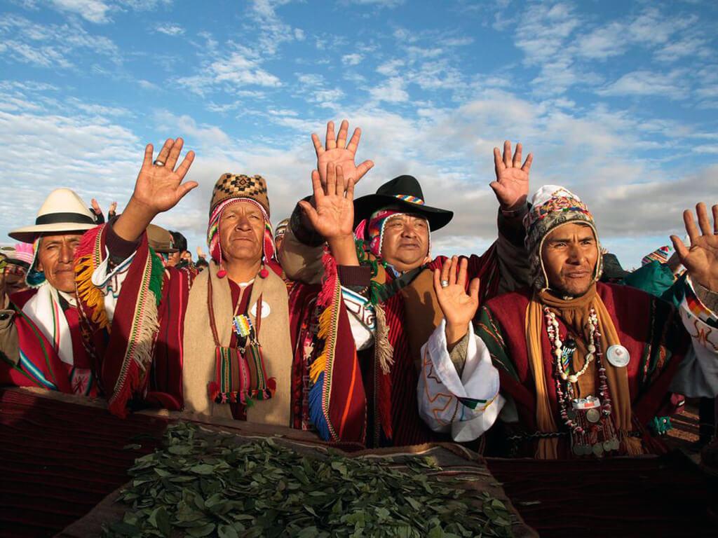 Célébration de l'Inti Raymi à Tiahuanaco en Bolivie