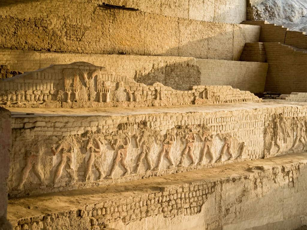 Bas-reliefs de la civilisation Moche