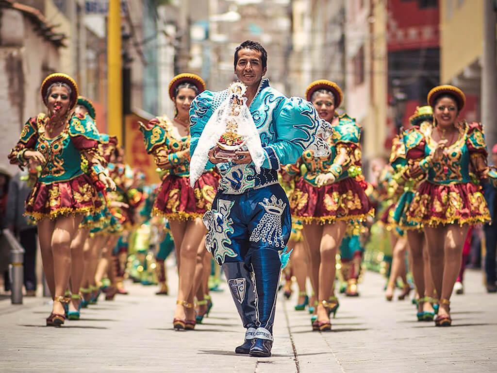 Défilé du Carnaval à Oruro en Bolivie