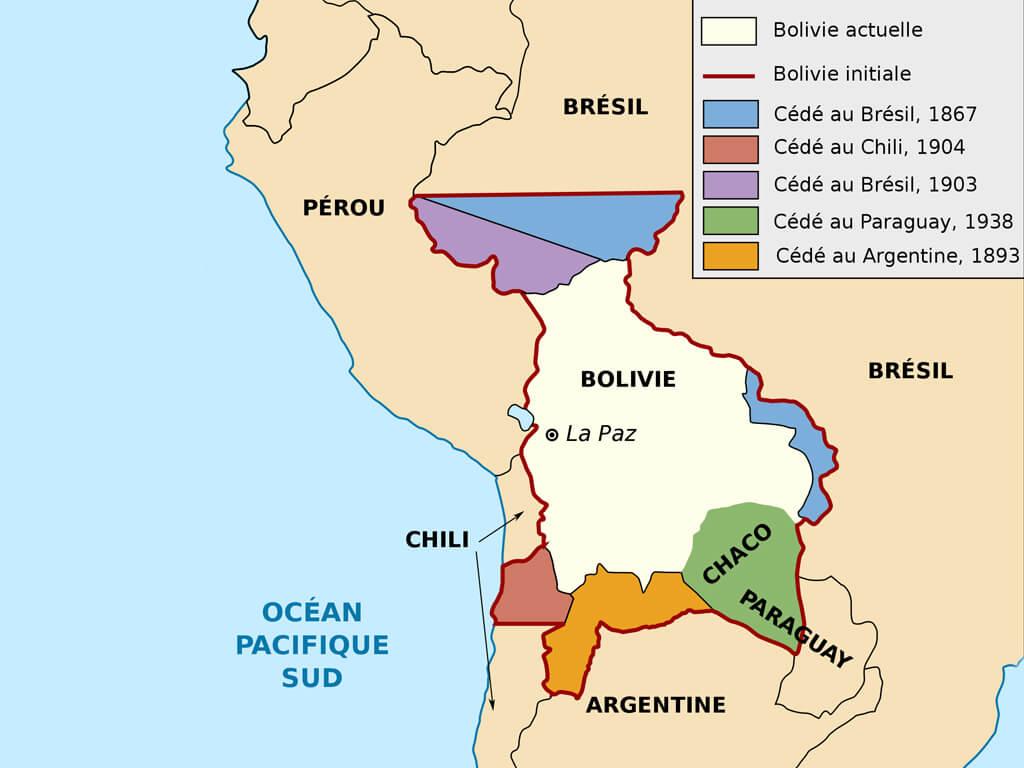Frontières entre la Bolivie, le Pérou et le Chili