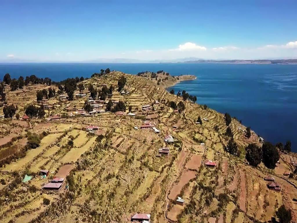 Île de Taquile sur le Lac Titicaca au Pérou