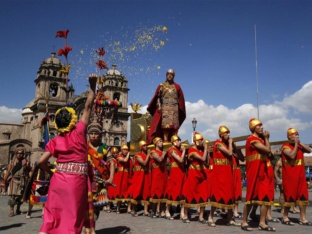Cérémonie Inti Raymi à Cuzco au Pérou