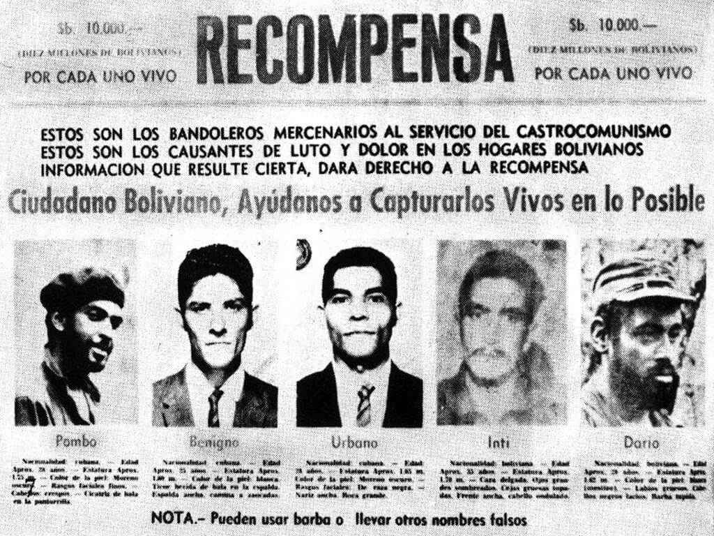 Les survivants du Che : Pombo, Benigno, Urbano, Inti et Dario