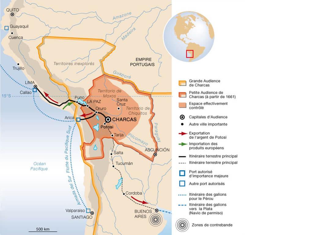 Principaux axes d'accès à la mer de la Bolivie pour l'exportation