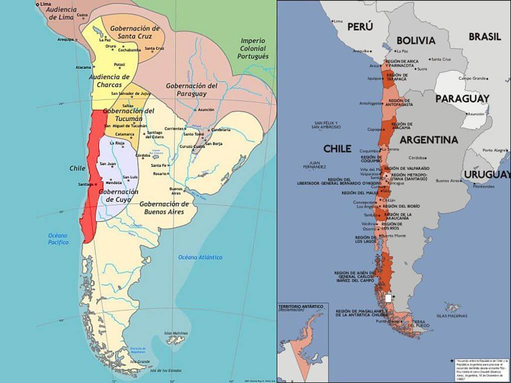 Situation géopolitique entre le Chili, la Bolivie et le Pérou au 19e siècle et aujourd'hui