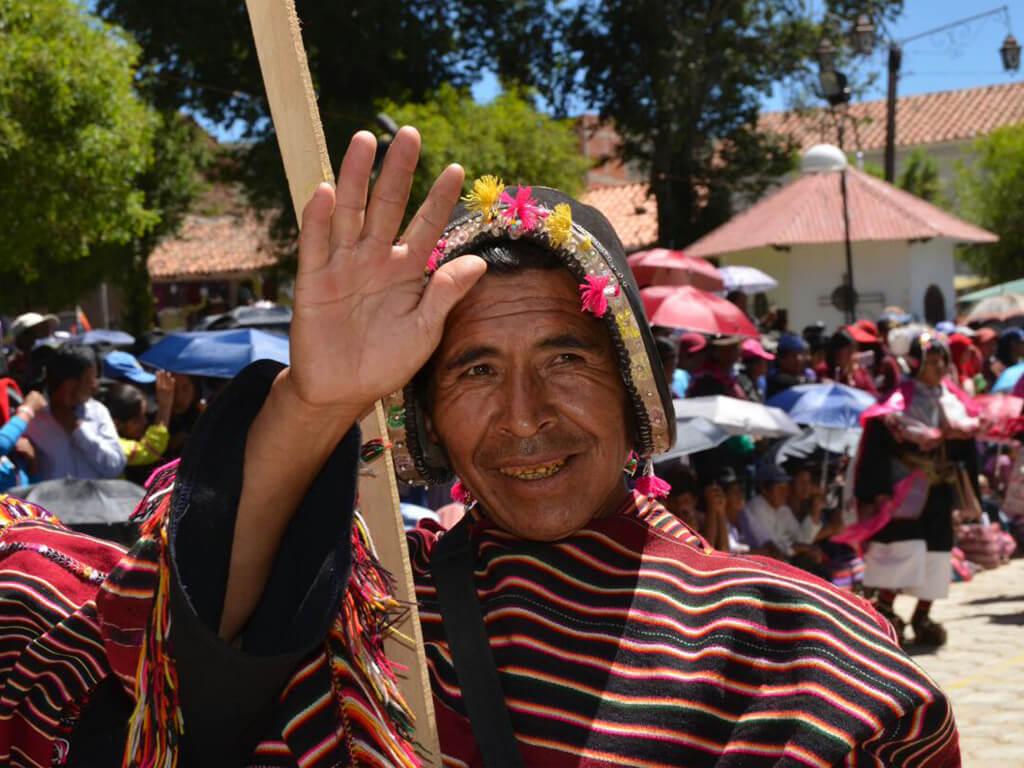 Musicien Yampara à Tarabuco en Bolivie