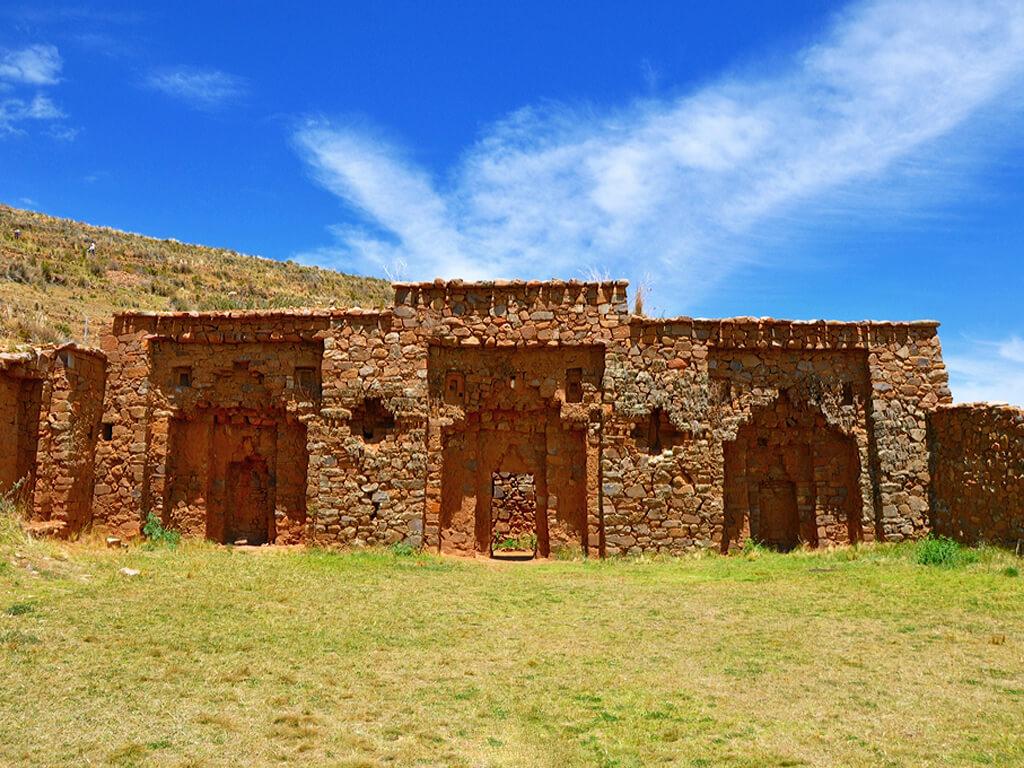 Palais Iñaq Uyu sur l'île de la Lune en Bolivie