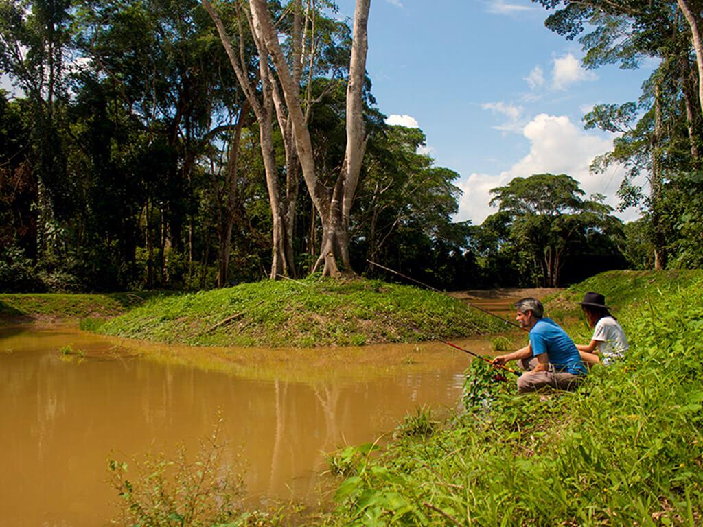 Partie de pêche à Tambopata