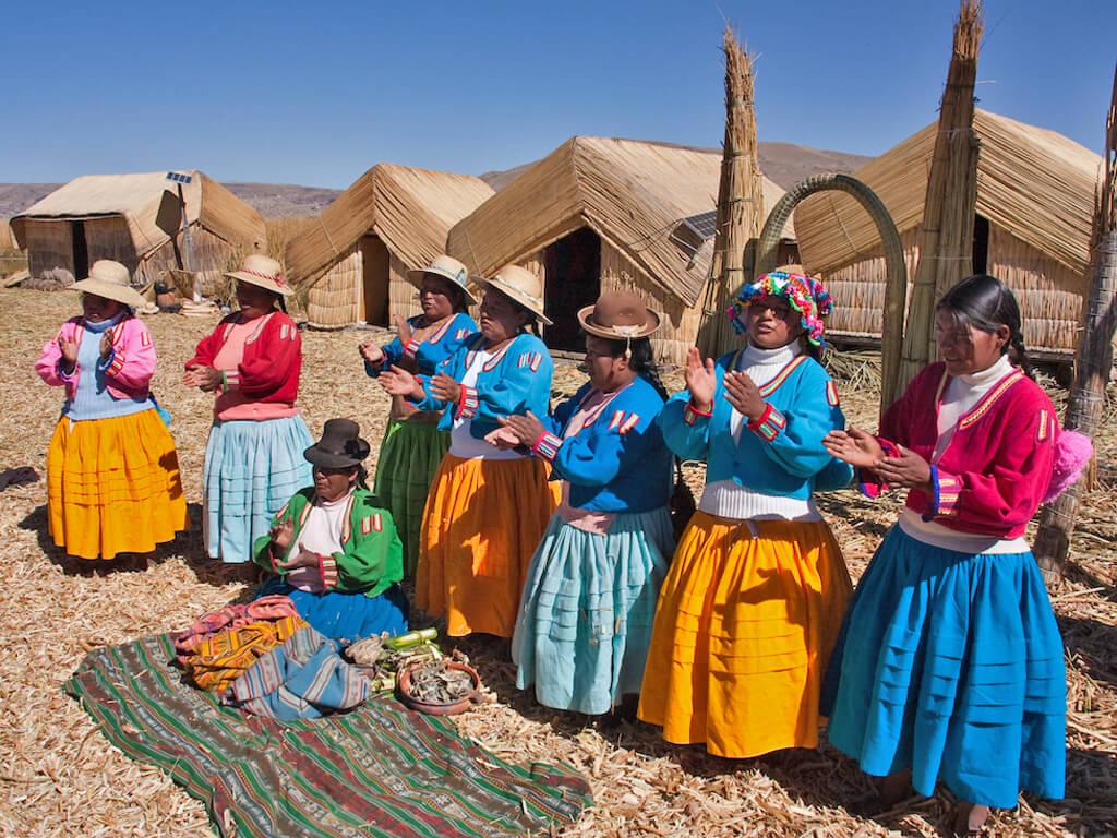 Peuple Aymara du Lac Titicaca au Pérou