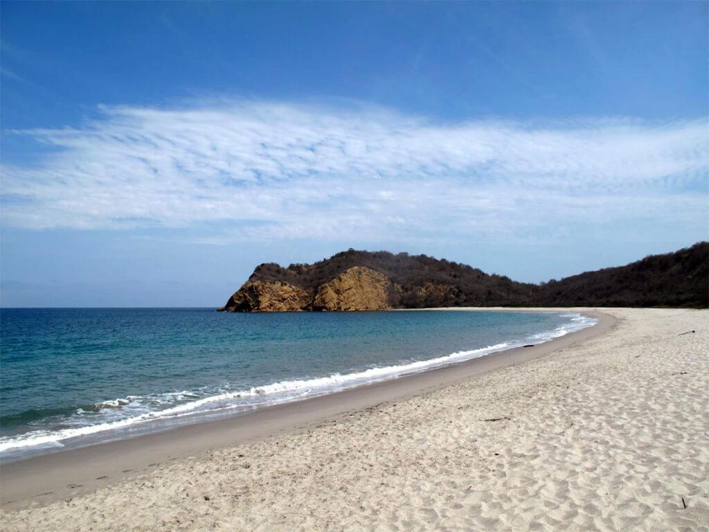 Détente sur les plages d'Équateur