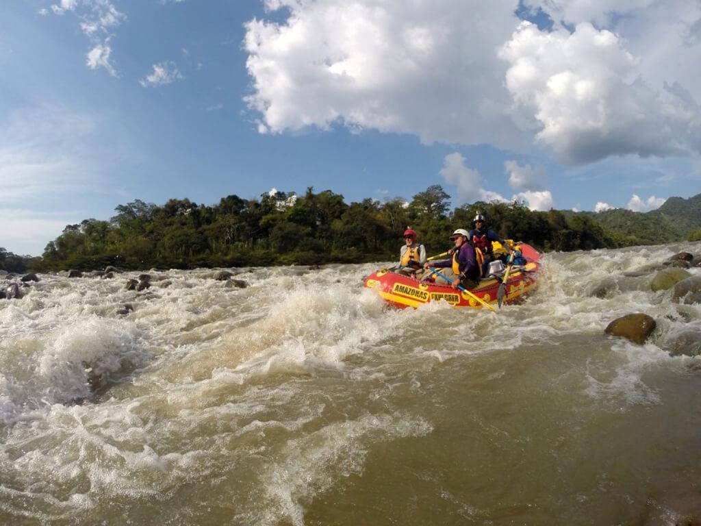 Rafting sur le Rio Tambopata au Pérou