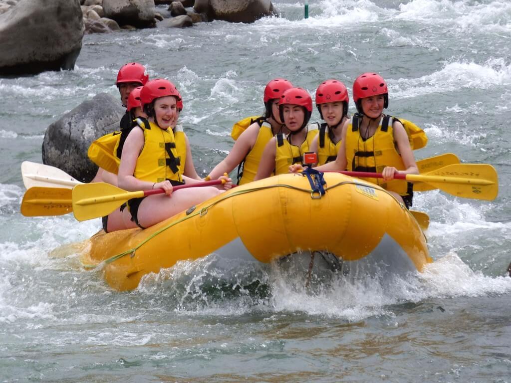 Rafting sur la rivière Urubamba au Pérou