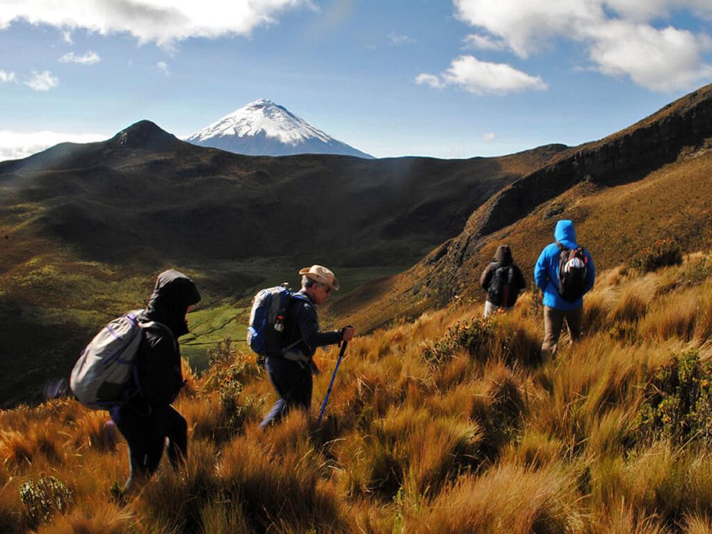Randonnées dans le parc national Cotopaxi en Équateur