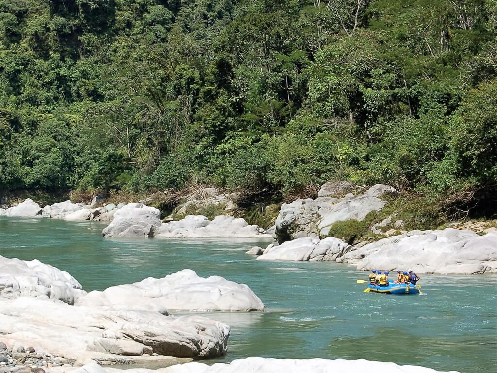 La rivière Upano en Équateur