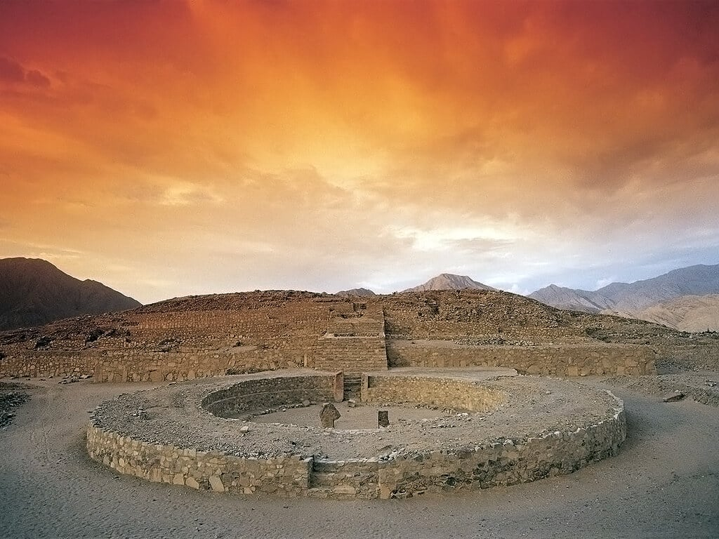 Site archéologique de Caral au Pérou