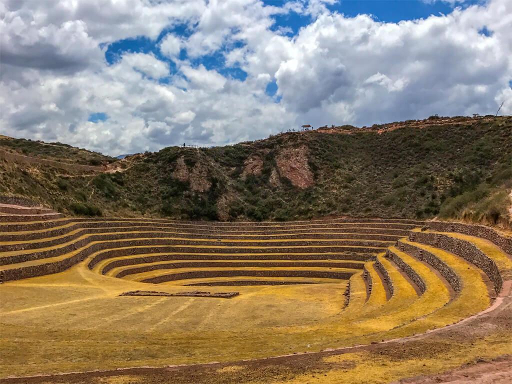 Terrasses agricoles construites par les Incas à Moray au Pérou