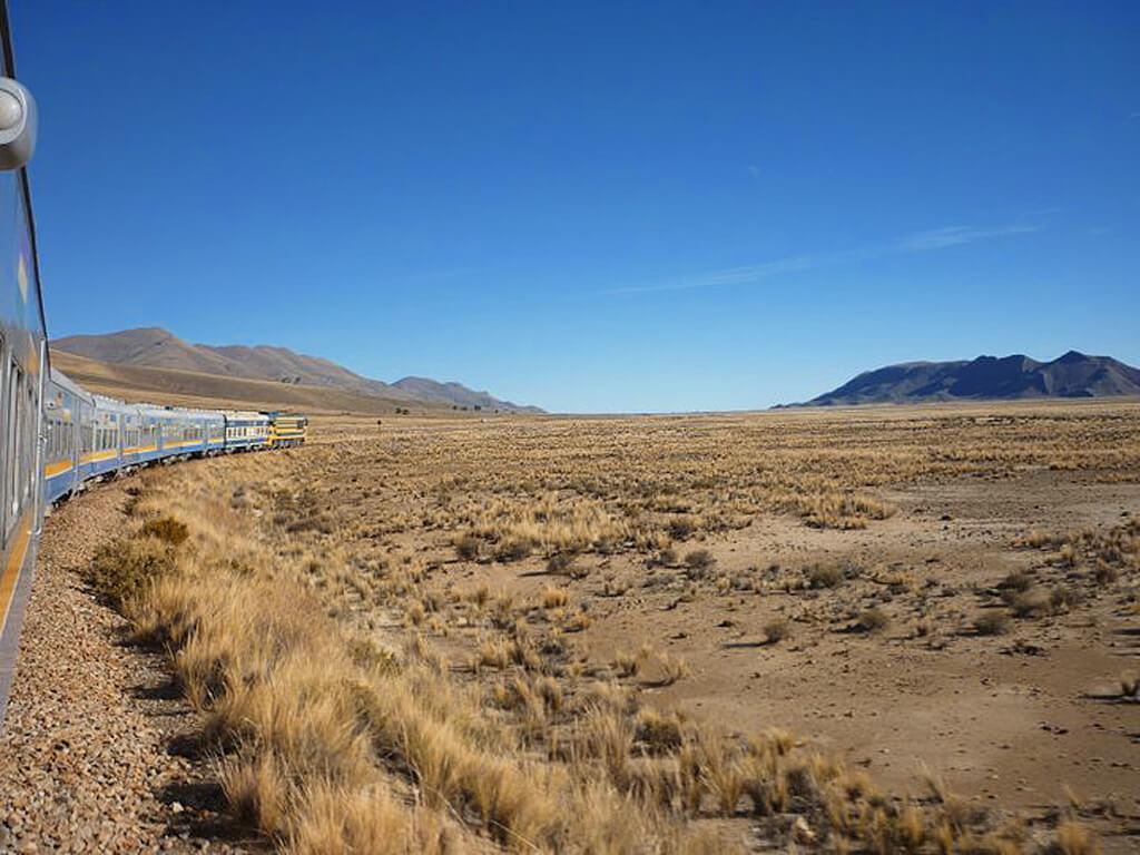 Trajet en train de Villazón à Oruro