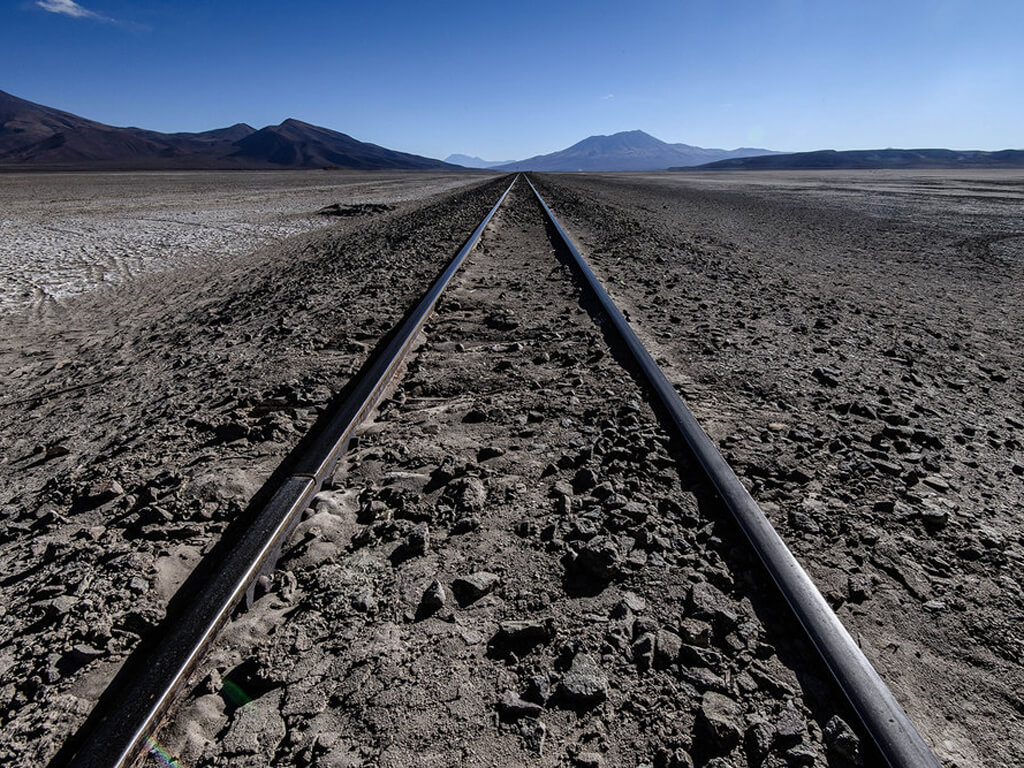 Voie ferrée entre Uyuni et Calama