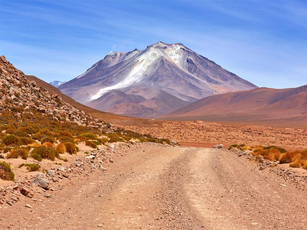 En route vers le volcan Ollagüe dans le Sud Lípez en Bolivie