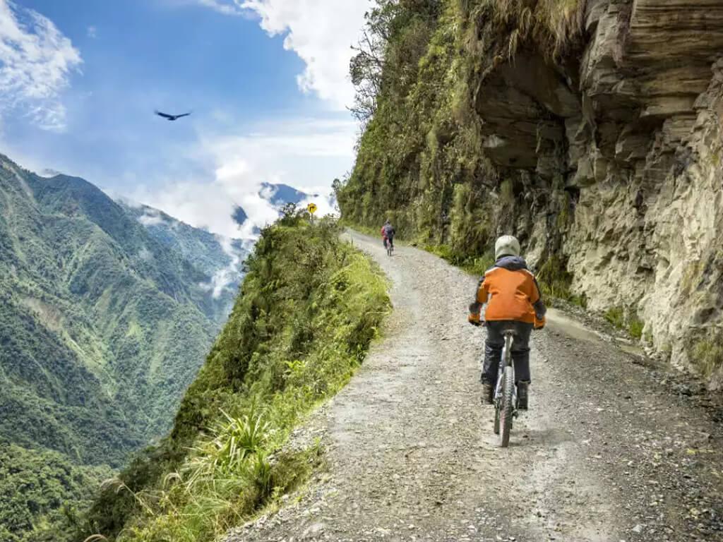 VTT sur la Route de la Mort en Bolivie