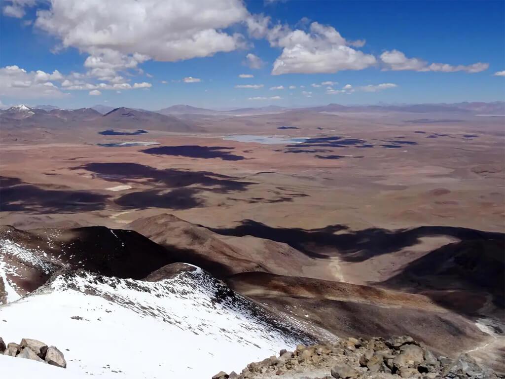Vue depuis le volcan Uturuncu
