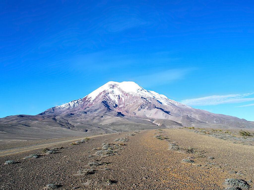 Vue sur le volcan Chimborazo en Équateur